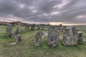 Drombeg Stone Circle in West Cork, Ireland.